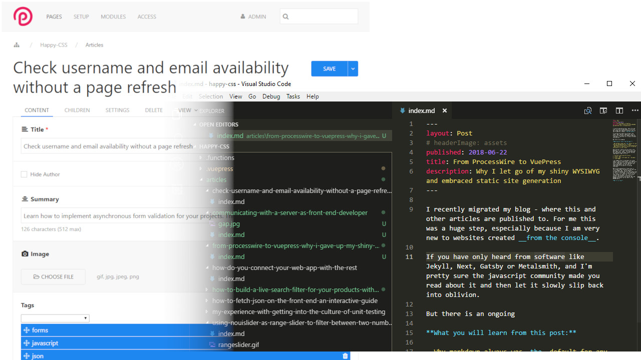 Why I let go of my shiny WYSIWYG CMS and embraced Static